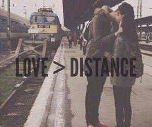 love, distance, and couple image