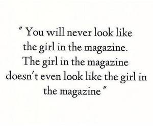 girl, magazine, and quote image