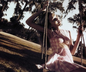 girl, swing, and model image