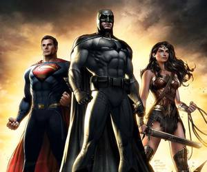batman, superman, and wonder woman image