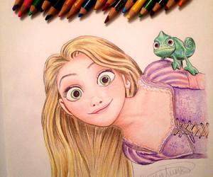 disney, disney drawing, and rapunzel image