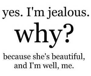 jealous, beautiful, and quote image
