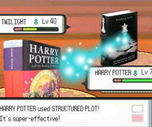 harry potter, twilight, and pokemon image