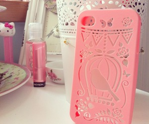 phone, pink, and phone case image
