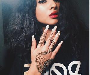 girl, henna, and nails image