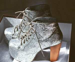 shoes, glitter, and fashion image