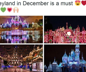 beautiful, christmas, and disneyland image