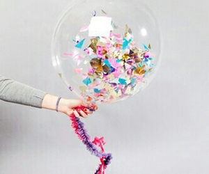 balloons, confetti, and party image