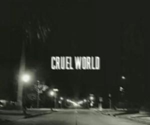 cruel world, lana del rey, and black image