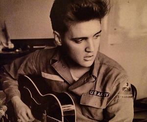 elvis, Elvis Presley, and guitar image