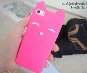 case, cat, and pink image