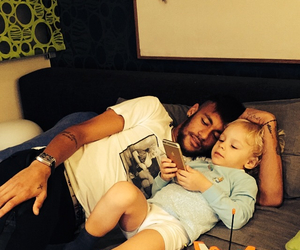 Barca, cool, and dad and son image