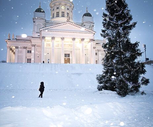 finland, winter, and christmas image
