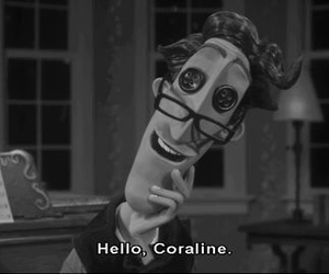 b&w, coraline, and Darkness image