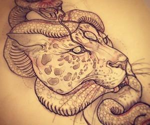 snake, jaguar, and tattoo image