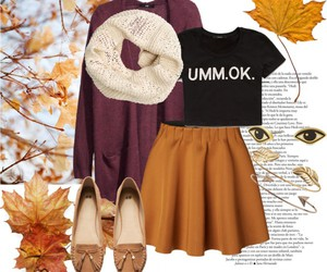 autumn, cold, and Polyvore image