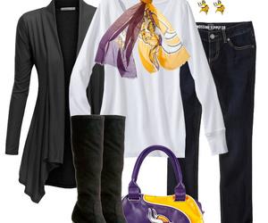 fashion, outfit, and minnesota vikings image