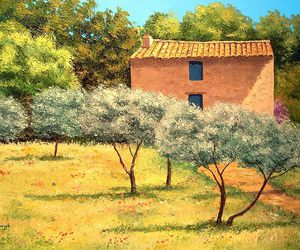 house, olive, and painting image