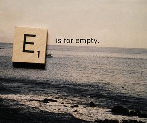 empty, sea, and quote image