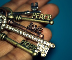 key, hope, and peace image