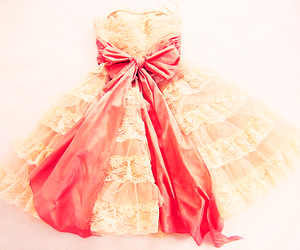 dress, bow, and pink image