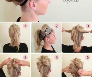blonde, hairstyle, and hair tutorial image