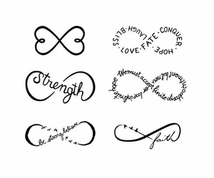 infinity, strength, and faith image