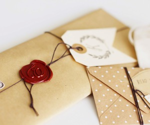 dots, wax seal, and envelope image