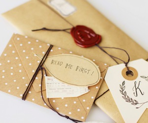 crafts, dots, and envelope image