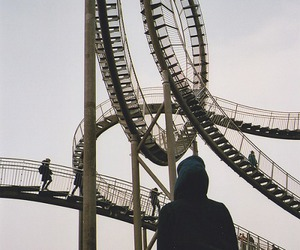 amusement park, rollercoaster, and solo image