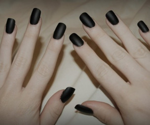 nails, black, and hands image