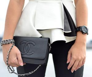 bag, peplum, and chanel image