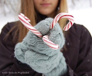 tumblr, candy cane, and winter image