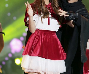little red riding hood, red, and skirt image