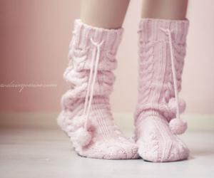 pink, socks, and sweet image