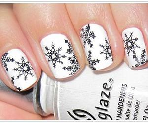 nails, white, and winter image