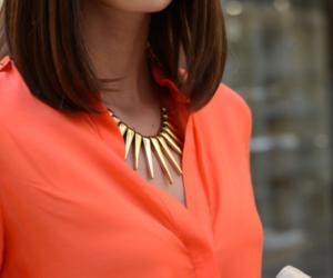 fashion, necklace, and orange image