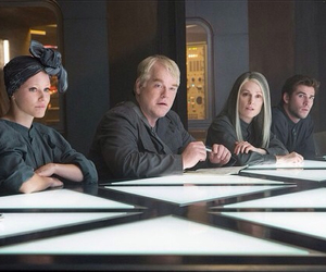 mockingjay, effie, and liam hemsworth image
