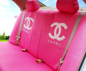chanel, pink, and car image