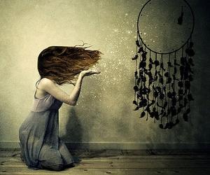 girl, magic, and art image