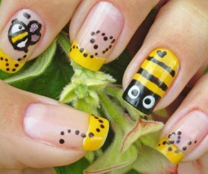 nails and bee image