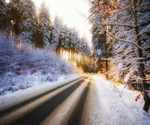 beautiful, snow, and landscape image