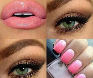makeup, nails, and lips image