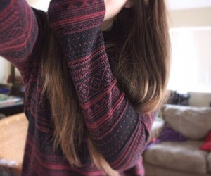 sweater, tumblr, and hair image