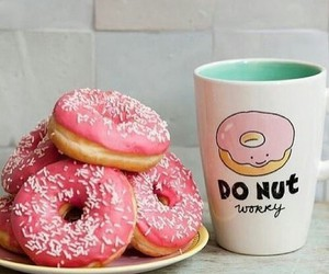 coffee, donut, and mmmm image