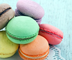 food, Cookies, and macaroons image