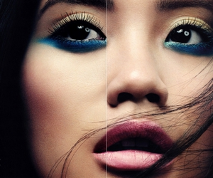 asian, blue, and make up image