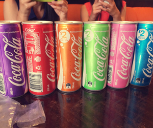 coca-cola, colorful, and drinks image
