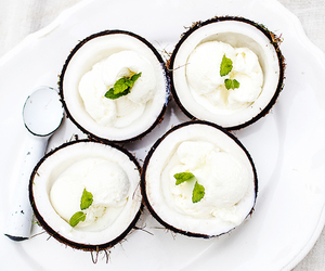 coconut, food, and white image