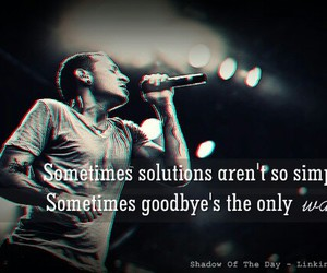 linkin park, goodbye, and music image